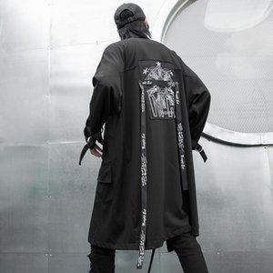 Männer langer Schal mit Kapuze dunkel nationalen Art und Weise dünnen Graben Leistung F407 P125 Wind Mantel Nationalität Mantel Nationalität