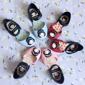 cute princess girl sandals children's closed-toe plastic jelly shoes with scented beach kids slippers Y200619