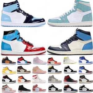 2020 Chaussures de basketball 1S Top Obsidian Unc Fearless Phantom Turbo Green 1 Backboard Phantom Gym Gym Rouge Sneaker Formateur Taille 36-46