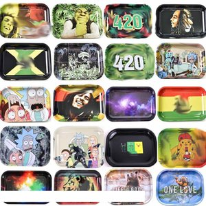 Wholesale Rolling Tobacco Trays Over 20patterns 7''*5'' For Rolling Papers Smoking Pipe Herb Grinder Free shipping