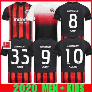 20 21 اينتراخت فرانكفورت لكرة القدم جيرسي SILVA COSTA 2020 قمصان 2021 فرانكفورت الرئيسية DOST زرع كوستيتش Hinteregger KAMADA MEN KIDS KIT كرة القدم