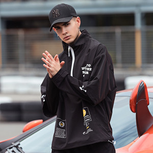 Les nouveaux hommes unisexe Anorak Vestes 2019 Hommes Hip-Hop Outwear Windbreaker Patchwork Casual Male Streetwear Outdoor Pardessus Top 4XL CX200730