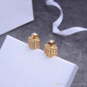 High version of exquisite dice micro inlaid designer earrings luxury designer jewelry women earrings