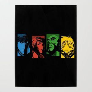 Bunter Charakter Cowboy Bebop Wand-Hauptdekor-Leinwand-Druck Malerei Modern Poster Wohnzimmer Modular Bilder-Rahmen-Grafik