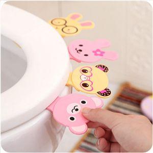 Toilet Lid Lifter Cartoon Animal Bath Seat Toilet Cover Lifting Device Bathroom Clamshell Lid Lifter Manual Lift Toilet Seat Lifters IIA278