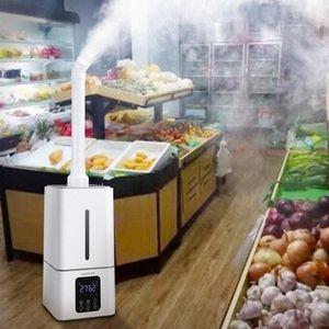 13L Air Umidificador ultra-sônico Mute Supermercado Comercial Legumes Névoa Criador Fogger spray Anion Umidificadores Disinfector McjE #