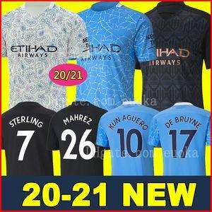 Tailandia 20 21 MANCHESTER CITY camiseta de fútbol G.JESUS DE BRUYNE KUN AGUERO camisetas 2020 2021 camiseta de fútbol KIT camiseta de KIT de adultos y niños