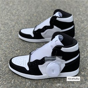 OG WMNS Basketball Shoes 1 1s Panda Color Mens Black White Outdoor Sports Sneakers Quality