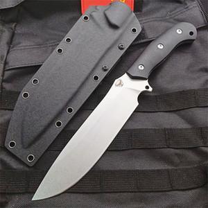 Kydex ile Yeni Geliş High End Survival Düz bıçak DC53 Taş Yıkama Bırak Noktası Bade Siyah G10 Tam Tang Sap