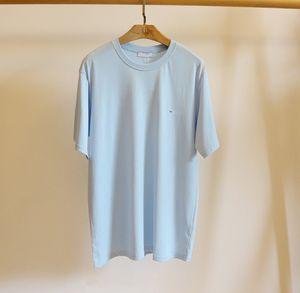 20SS Mens Top Tee T-shirt Casual mulheres camiseta T-shirt tamanho S-XL letras pequenas Printing New Verão Hoodie Paris Fan Mens Luxo Camiseta