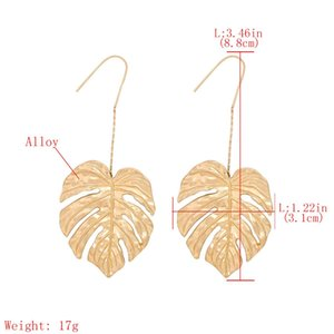 Women Leaf Earring High Polish Alloy Dangle Earring Classical Style Leaf Shape Women Party Birthday Christmas Gift