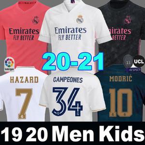 Camiseta HAZARD Real Madrid 19 20 21 ZIDANE 34th Campeones 34 camisetas de fútbol EA sports soccer jersey 2019 2020 2021 Kids hombres niños MARCELO ISCO camisa de futebol