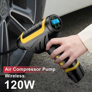 120W Kablosuz Araç Hava Kompresörü Pompası Dijital LED 150 PSI Akıllı Araç Lastik Şişirme El USB Şarj edilebilir Şişme Pompa zaXP #
