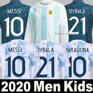 Maillot de foot Argentine 2020 Copa America Argentina MESSI DYBALA AGUERO HIGUAIN ICARDI pre-match pour homme femme enfants kit Thaïlande qualité uniforme soccer jersey shirt
