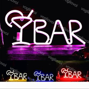 LED Neon Sign String Light Letter Shape Bar Light Wall Hanging 3D Night Light With Controller For Family Party Bar Bedroom Decoration DHL