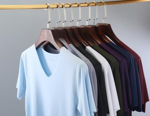 New autumn clothes clothes home furnishing clothing Lycra traceless Ice Silk ice cool short sleeve seamless men's home wear