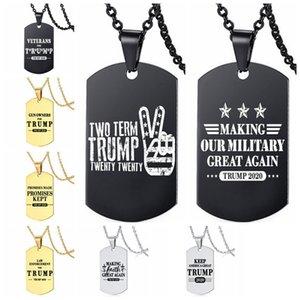 Trump 2020 президентские выборы в США Tag Keep America Great Metal ожерелье Trump Подвеска Бесплатная доставка DHL