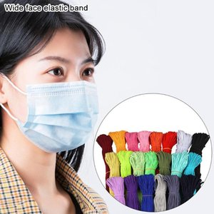 2mm 45  Colorful Mask Elastic Band Heavy Stretch Band Cord Mask Ear Hanging Rope For Sewing Crafts DIY Cuff Accessories