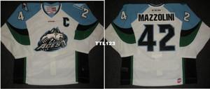 Personalizar los hombres ECHL 2013 14 Alaska Aces 42 Nick Mazzolini Jersey ausente Jersey de hockey o costumbre cualquier nombre o número retro Jersey