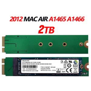 NEW 2TB SSD für 2012 Macbook Air A1465 A1466 Md231 md232 md223 md224 Solid State-Festplatte HDD