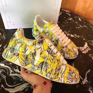 Best Quality Graffiti hococal oversized designer shoes luxury women famous shoes Party Paris designer sneakers wide painted soles