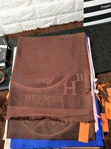 Uzun Cashmere eşarp Wrap Shawl 180 * 70cm baskı luoyuruei2018 Fabrika Fiyatı marka tasarımı Kadın Harf Baskı Pamuk Eşarp Letter