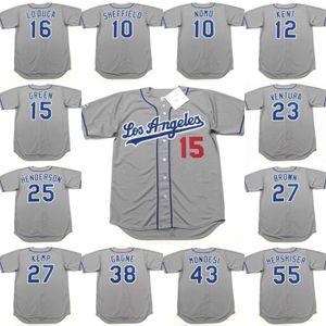 Los Angeles 25 Rickey Henderson 27 Kevin Brown 27 MATT KEMP 38 ERIC GAGNE 43 RAUL Mondesi 55 Orel Hershiser Baseball Trikot genäht