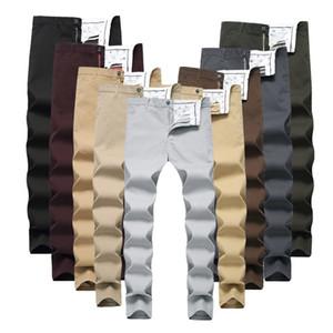 9 Colors Mens Pants Fashion Casual Breathable Pants Slim Elasticity Straight Trousers Classic Slim Pencil Pants