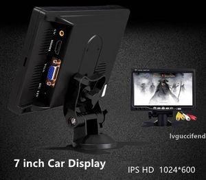 7-inch Car Display IPS LED Color Car Monitor Security Monitor Screen Car Reversing Display with HDMI VGA port 1024*600