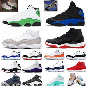Nike Air Jordan Retro 11 Flint 13 Jumpman 11 Männer Frauen Basketballschuhe Bred 11s Hyper Royal Lucky Green Spielplatz 13s Concord Blue Herren Sportschuhe 5.5-13
