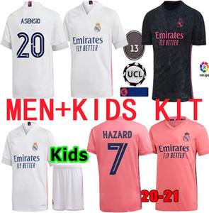 레알 마드리드 축구 유니폼 (20) (21) 위험 세르히오 라모스 벤제마 비니 2020 2021 camiseta 축구 셔츠 유니폼 남성 + 아이 키트 저지