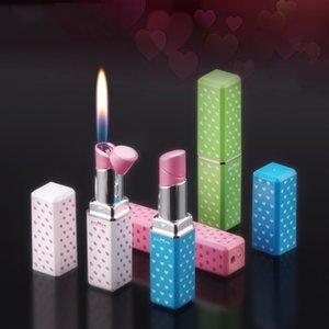 Kreative Mini-Feuerzeug-Butan-Gas nachfüllbar Lippenstift-Form-Feuerzeug für Frauen Nizza Geschenk Lustige Feuerzeug