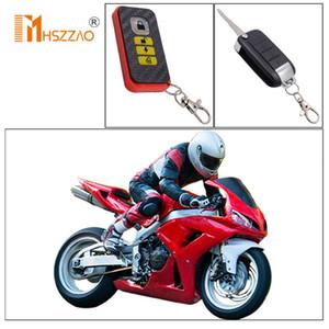 Sistema de alarma 12V universal de la motocicleta Vespa anti-robo de seguridad del sistema de alarma de dos vías con el comienzo del motor de control remoto de la llave Fob