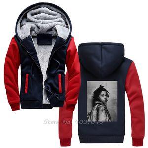 Lauryn Hill Glitch Efeito Men / Mulher Hoodie Men inverno de espessura Quente Zipper Sportwear Moletons Harajuku