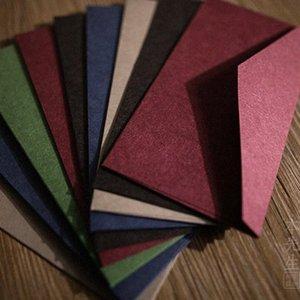 50pcs B3 (220 milímetros X 110 milímetros) Envelopes Acolhedor Thick Paper Gift Card multifunções do envelope do convite do casamento de papel 9uBe #