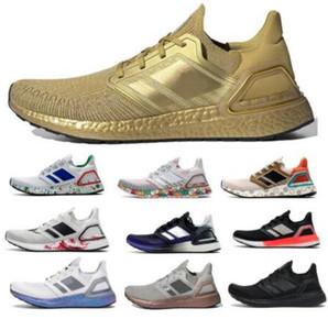 Ultraboost 20 2020 UB 6.0 кроссовки Mens женщин Ультра Se Тройной White Global Gold Metallic валюты Run Light Chaussures Тренеры Sneaker