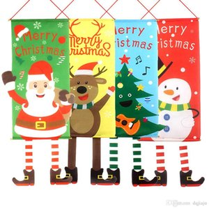 New Christmas Tree Christmas Elf Hanging Flag Hanging Wall Landscape Wall Cover Christmas Pendant Banner Decorations for Home