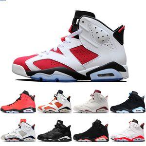 6 carmine basketball shoes Classic UNC black blue white infrared low chrome women men sport blue red oreo alternate Oreo black runing