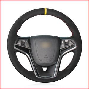 Custom Made DIY Anti Slip Black Suede DIY Steering Wheel Cover for Chevrolet Malibu 2011-2014 Volt 2011