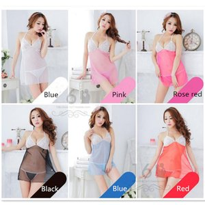 Colorido de la ropa interior de moda de estilo interior atractiva transparente atractiva de los trajes de vestir Conjoined Trajes Outlet
