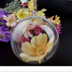 Transparent Fillable Decoration White Ball Clear Bauble Ornament Supply for Romantic Wedding Christmas tree 50mm 80mm wen4418