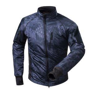 Giacca nera Python Mens Outdoor Fleece impermeabile Ultra-Light indumenti termici Alpinismo Escursionismo Camping Tactical