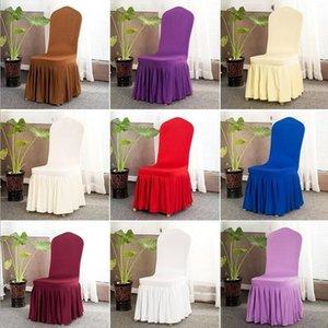 Sandalye Etek Kapak Düğün Ziyafet Sandalye Koruyucu Slipcover Dekor Pileli Etek Stil Sandalye Elastik Spandex Sandalyeler Kapaklar BWC548