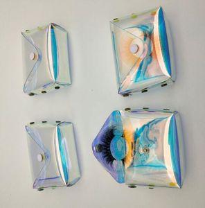 3D Eyelashes Packing Boxes Laser Lash Bag Lashes Package Storage Cases Makeup Cosmetic Case Mink Transparent Eyelash Bag GGA3555-4