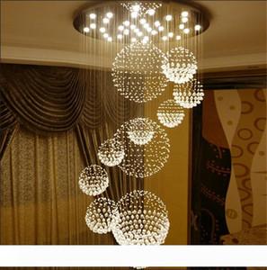 Modern Chandelier K9 Crystal Raindrop Chandelier Lighting Flush mount LED Ceiling Light Fixture Pendant Lamp for Dining Room Bedroom