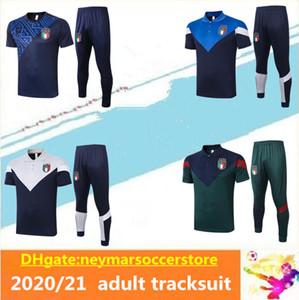 2020 2021 İtalya Kısa Kollu Polo Gömlek Futbol Eğitim Takım Survetement 20/21 Italia Maillot De Ayak Bonucci Sleeve Eşofman
