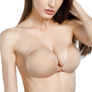 Frauen-Silikon-BH Sexy Schnalle vorne Palm Nein Schultergurt Chest Aufkleber Invisible Versammlung zur Verbesserung des Breathable Bra