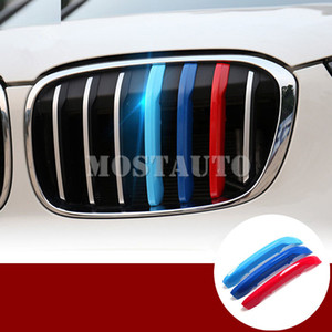 For BMW X1 F48 ABS Front Grill Grille Insert Trim Cover 2016-2019 3pcs