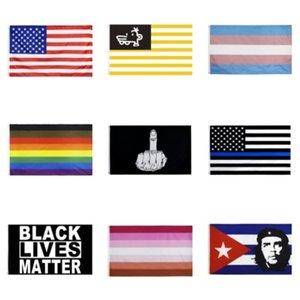 Bandera delgada línea azul de EE.UU. Decal Pegatinas para Coches Camiones - 2,5 * 4.5inch estadounidense Ventana EE.UU. bandera pegatina para el coche # 134