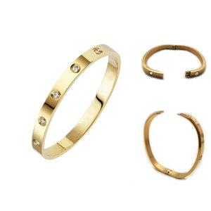 cadenas de oro para los hombres CALIENTES 316 brazalete de acero inoxidable de joyería de diseño de lujo de las mujeres tornillo AMOR pulseras anillos de boda pulsera conjuntos con el bolso